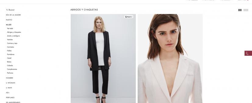 Tiendas de moda online - Adolfo Domínguez
